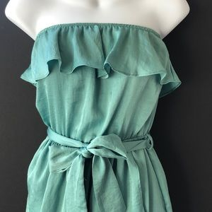 Lush Sage Green Strapless Party Dress